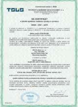 certifikát Betonáreň